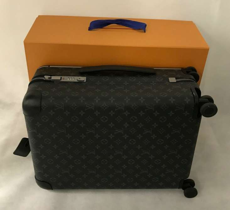 Valise Louis Vuitton Horizon 55 Monogram Eclipse Bagages Sac à roulettes